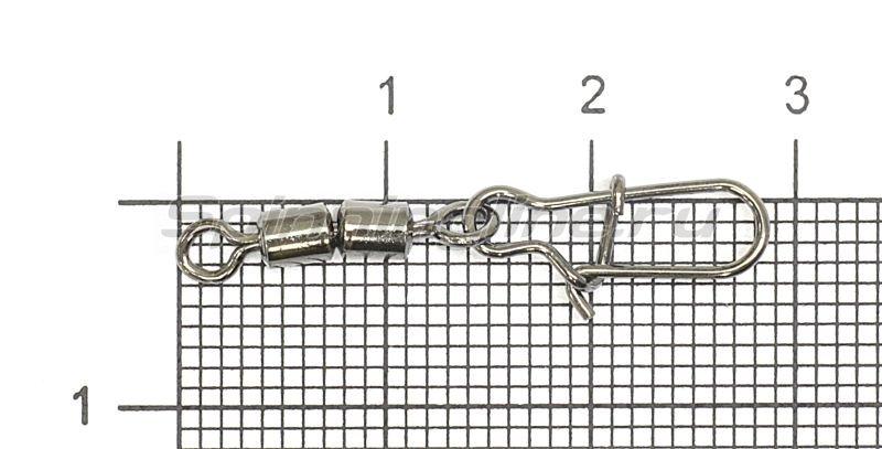 Вертлюг цилиндр двойной с застежкой Duo-lock №6x1 Bz -  1