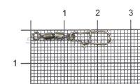 Вертлюг цилиндр двойной с застежкой Duo-lock №8x0 Bz
