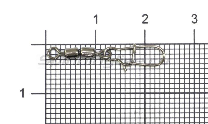 Вертлюг цилиндр двойной с застежкой Duo-lock №8x0 Bz -  1