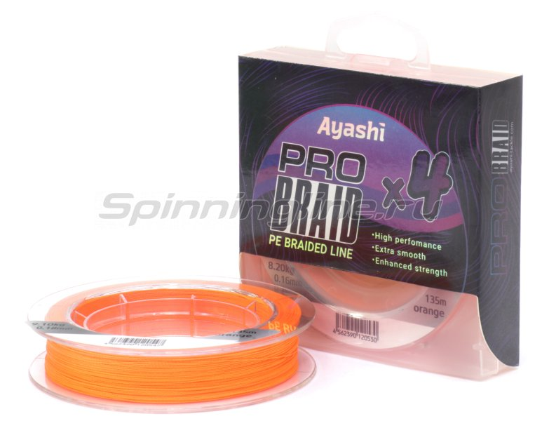 Ayashi - ���� Pro Braid-X4 0,12�� orange - ���������� 1