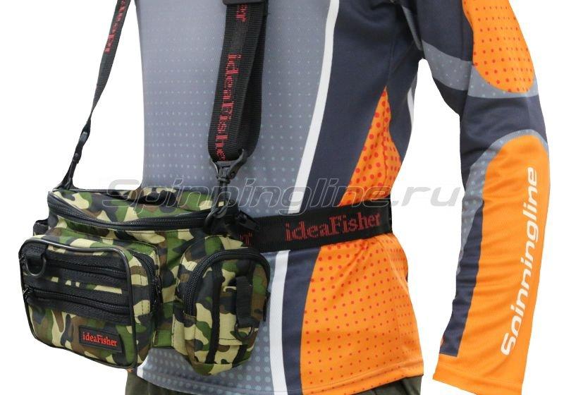 IdeaFisher - Поясная сумка с держателем удилища Stakan 100 Лайтовик камуфляж - фотография 1