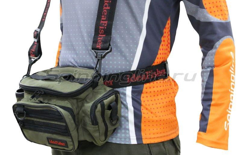 IdeaFisher - Поясная сумка с держателем удилища Stakan 100 Лайтовик олива - фотография 1