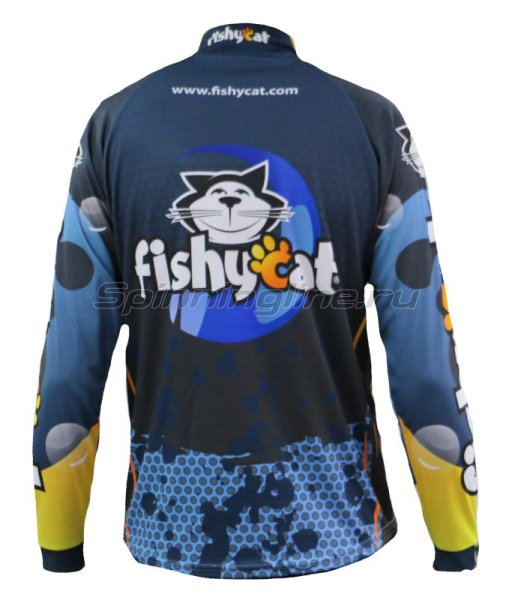 Fishycat - Футболка с длинным рукавом Tomcat Style Dark Blue T-Shirt S - фотография 2