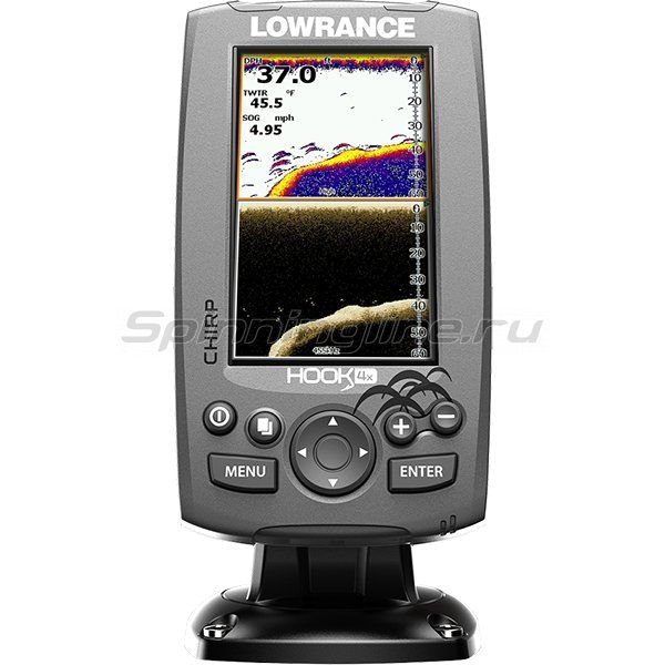 Эхолот Lowrance Hook-4x Mid/High - фотография 1