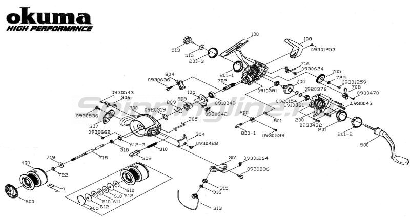Катушка Fina Pro 25 FD -  7