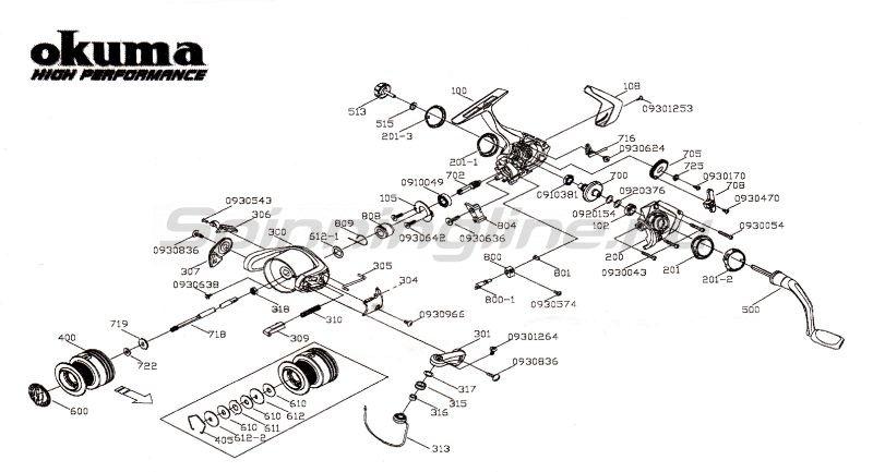 Катушка Fina Pro 40 FD -  7