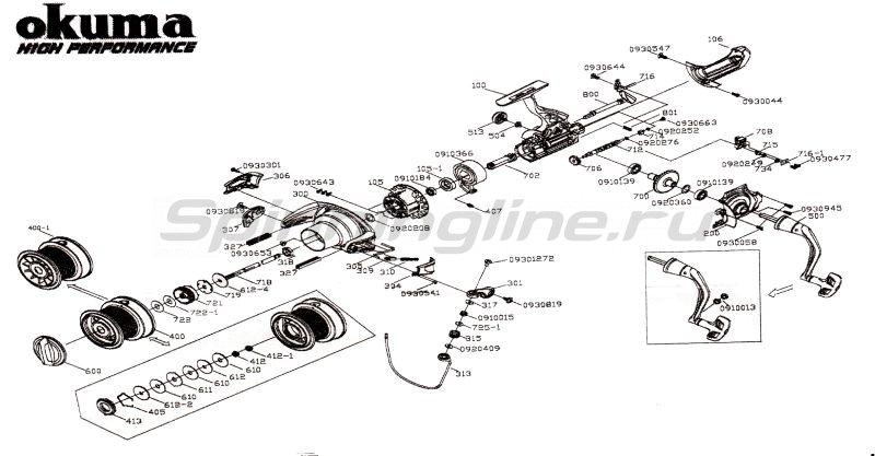 Okuma - Катушка Max4 Distance Carp 60 FD - фотография 5