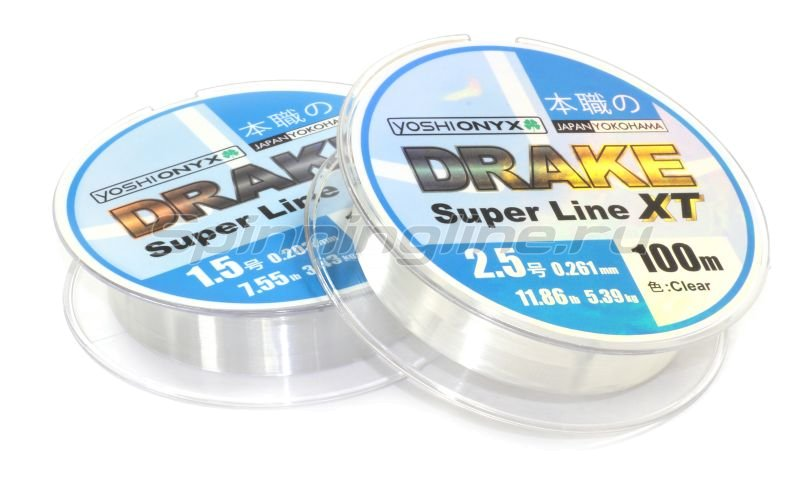 Леска Drake Superline XT 100м 0,165мм Clear -  1