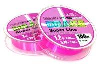 Леска Drake Superline 100м 0,128мм Pink