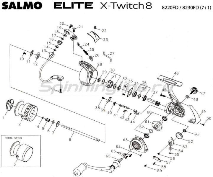 Катушка Elite X-Twitch 8 30FD -  12