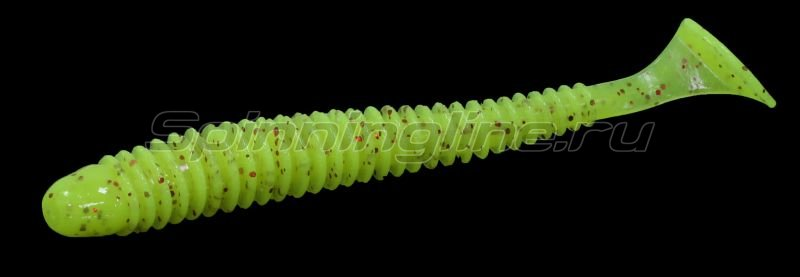 "Keitech - Приманка Swing Impact 2.5"" Chartreuse Red Flake - фотография 1"