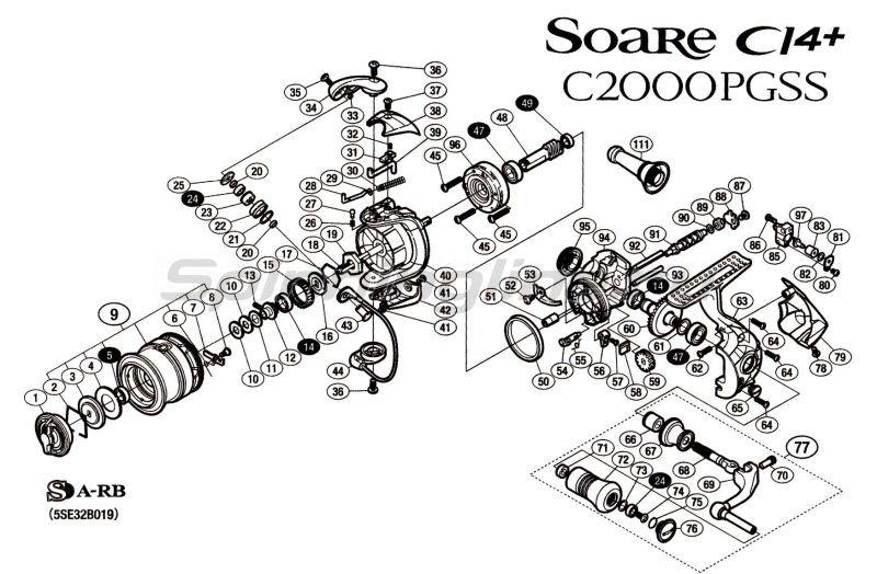 Shimano - Катушка Soare Cl4+ C2000PGSS - фотография 7