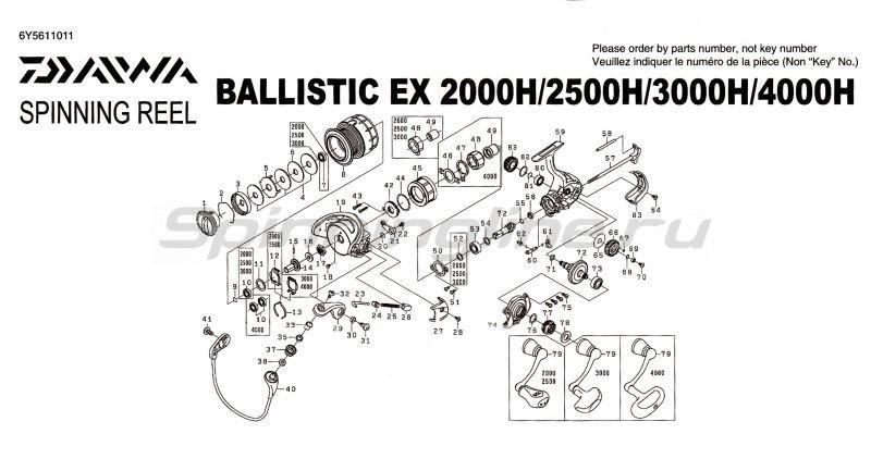 Daiwa - Катушка Ballistic EX 4000H - фотография 6