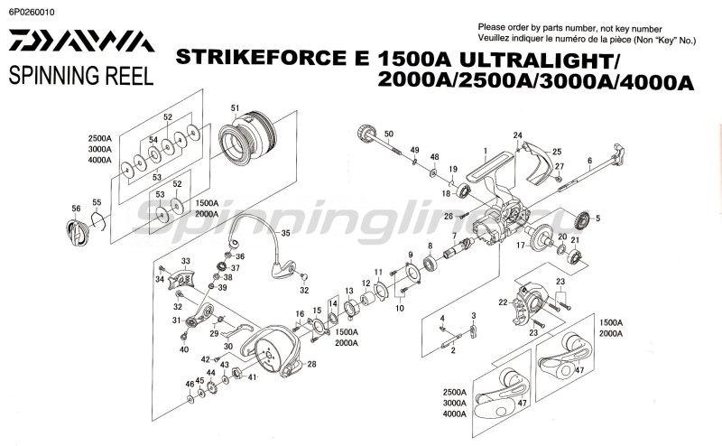 Daiwa - Катушка StrikeForce E 3000A - фотография 7
