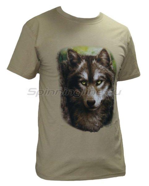 "Мир футболок - Футболка с рисунком ""Волк"" XXL - фотография 1"