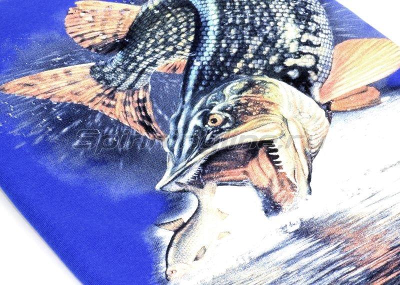 """Мир футболок - Футболка с рисунком """"Щука малек"""" S синий - фотография 3"""