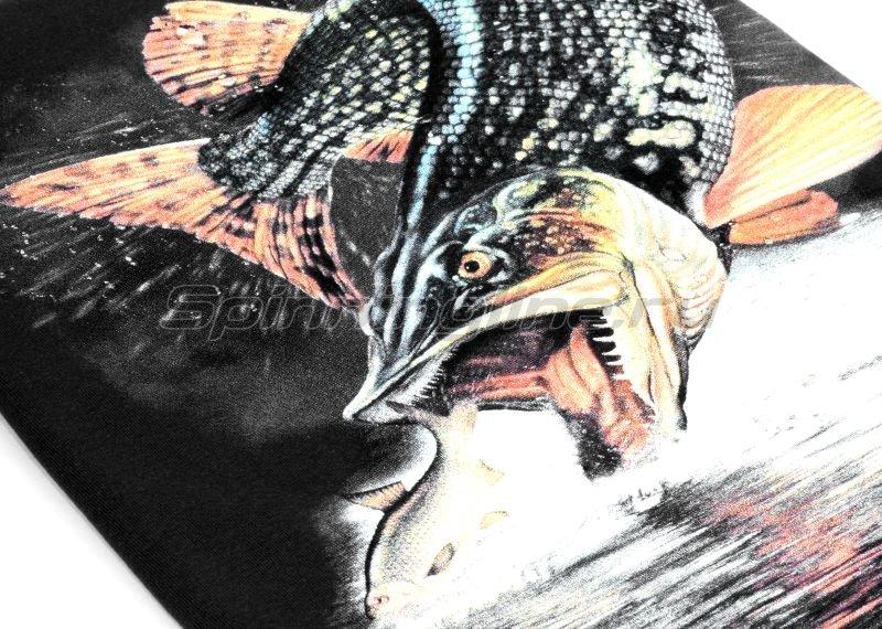 """Мир футболок - Футболка с рисунком """"Щука малек"""" XXL черный - фотография 2"""