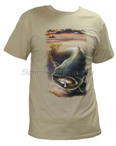 """Мир футболок - Футболка с рисунком """"Сом"""" XL - фотография 1"""