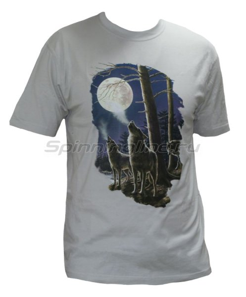 """Мир футболок - Футболка с рисунком """"Волк"""" XXL серый - фотография 1"""