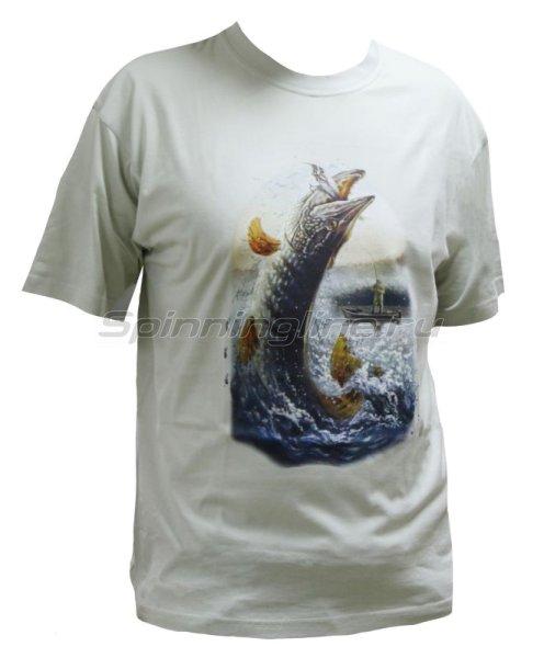 """Мир футболок - Футболка с рисунком """" Щука"""" M - фотография 1"""