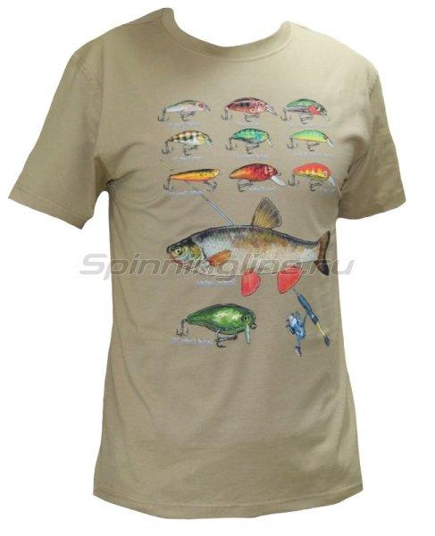"""Мир футболок - Футболка с рисунком """"Голавль"""" M - фотография 1"""