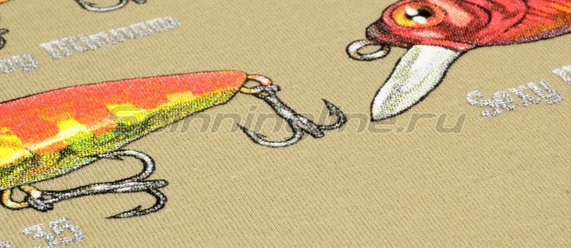 """Мир футболок - Футболка с рисунком """"Голавль"""" M - фотография 3"""