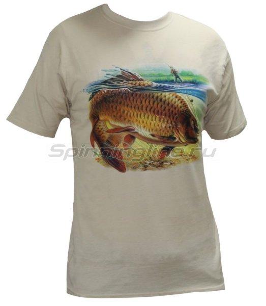 """Мир футболок - Футболка с рисунком """"Сазан"""" XS - фотография 1"""