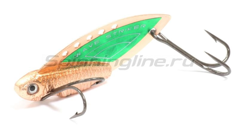 Kosadaka - Блесна Wave Striker 10гр Copper/Green - фотография 1