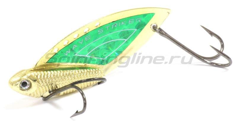 Kosadaka - Блесна Wave Striker 14гр Gold/Green - фотография 1