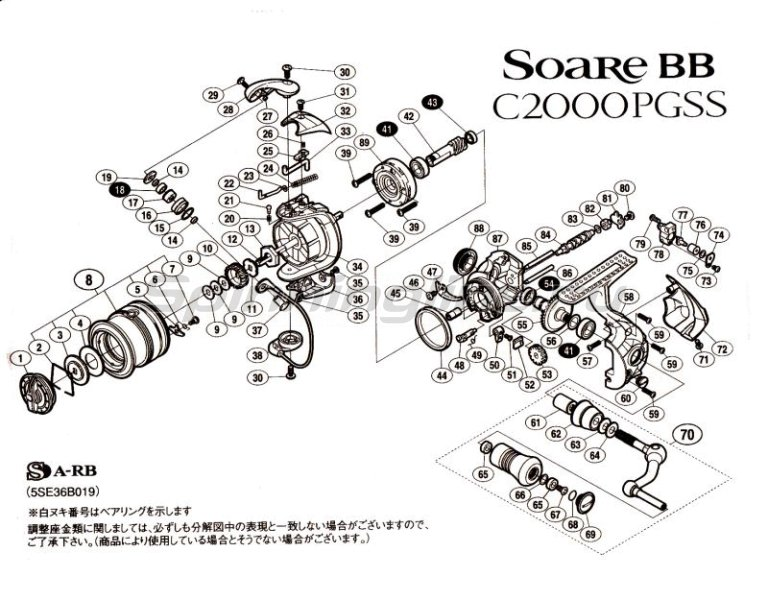 Катушка Soare BB C2000PGSS -  7