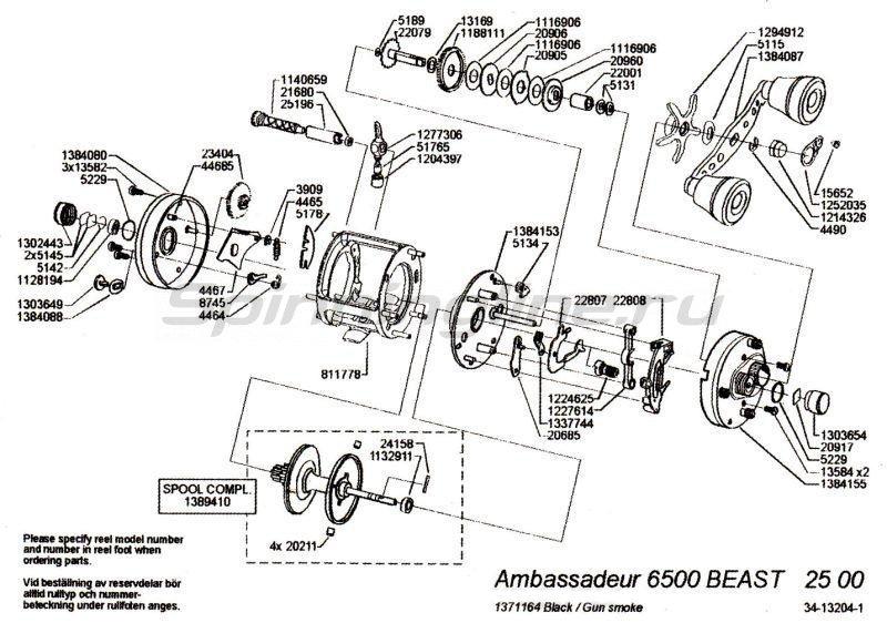 Abu Garcia - Катушка Ambassadeur Beast 6500 - фотография 5