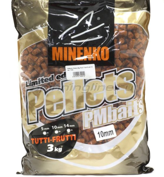 Minenko - Пеллетс прикормочный PMBaits Pellets Big Pack Tutti-Frutti 10 мм. - фотография 1