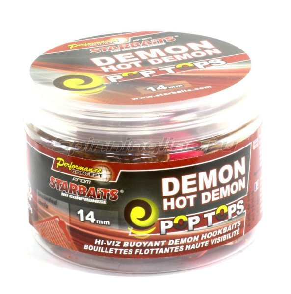 Бойлы Starbaits Performance Concept Hot Demon Pop-tops 14мм 0,06кг - фотография 1