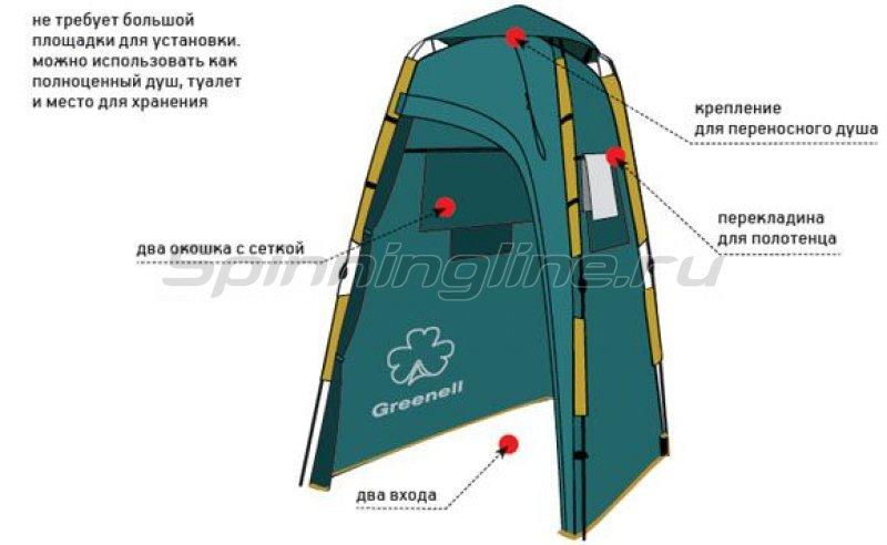 Greenell - Палатка-душ Приват V2 зеленый - фотография 2