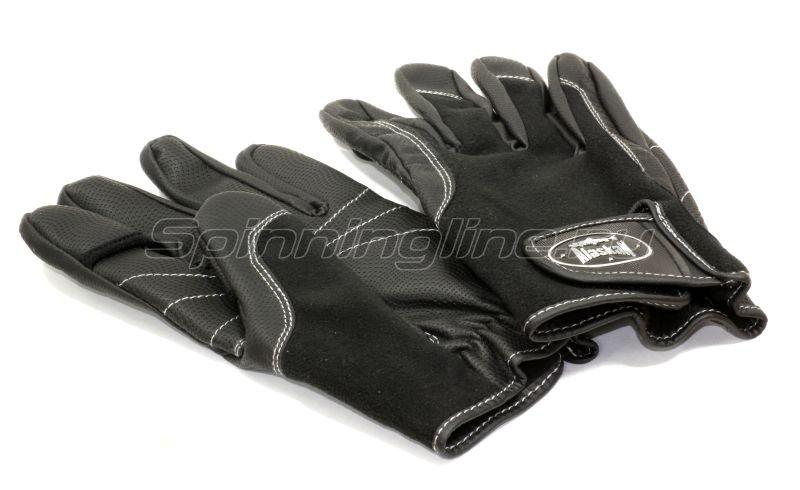 Перчатки спиннингиста Alaskan AGWK-12 L черные - фотография 1