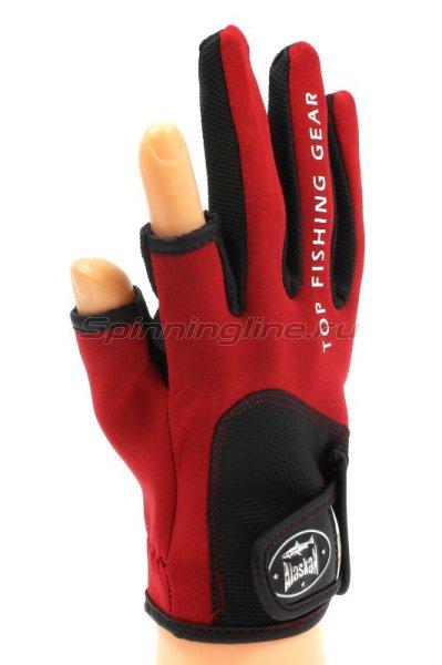Перчатки спиннингиста Alaskan AGWK-11 M Red/BL -  1