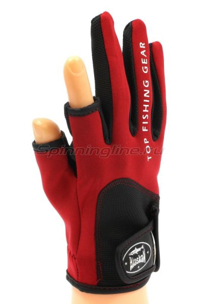 Перчатки спиннингиста Alaskan AGWK-11 L Red/BL -  1