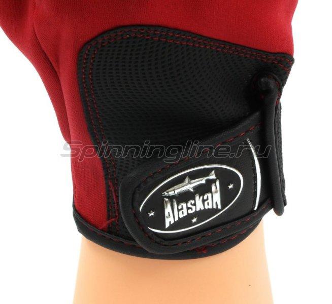 Перчатки спиннингиста Alaskan AGWK-11 L Red/BL - фотография 3