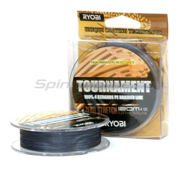 Шнур PE Tournament 4х 120м 0,185мм -  2