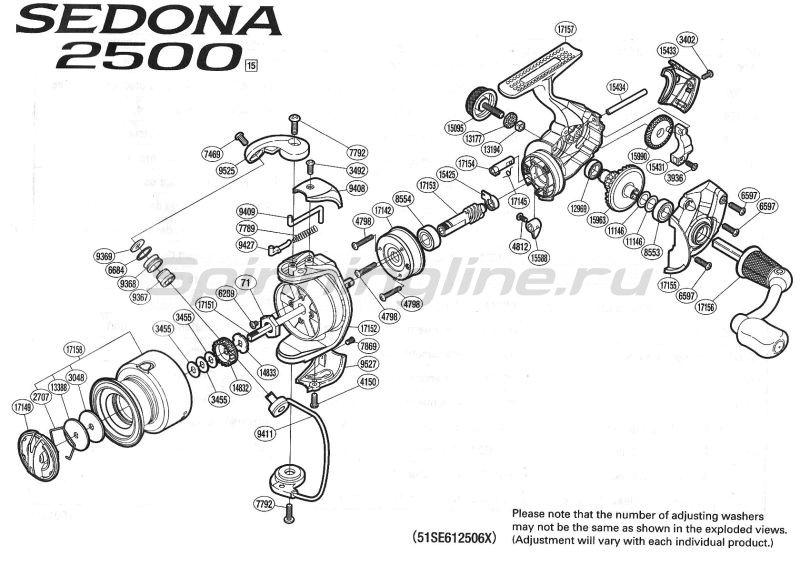 Катушка Sedona 2500 FE -  9