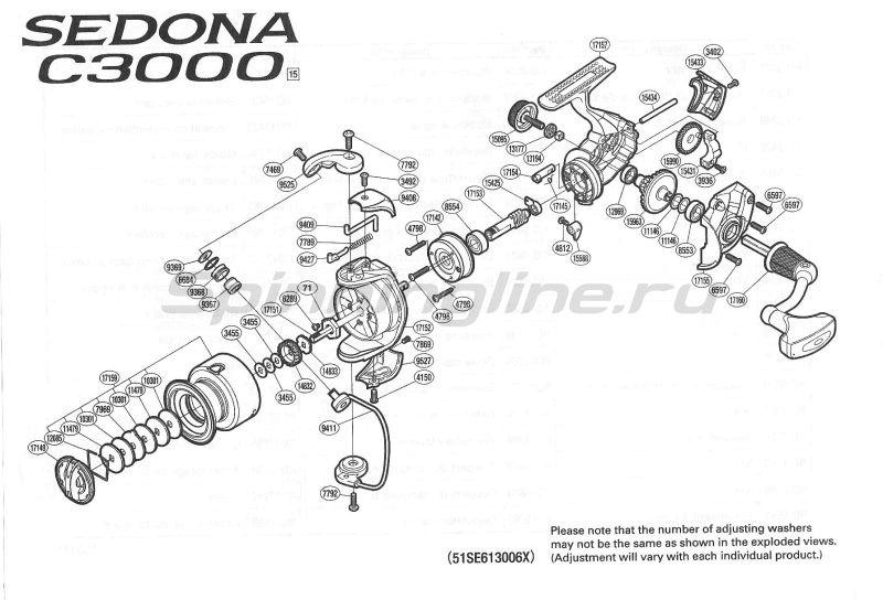 Shimano - Катушка Sedona 3000 Compact FE - фотография 9