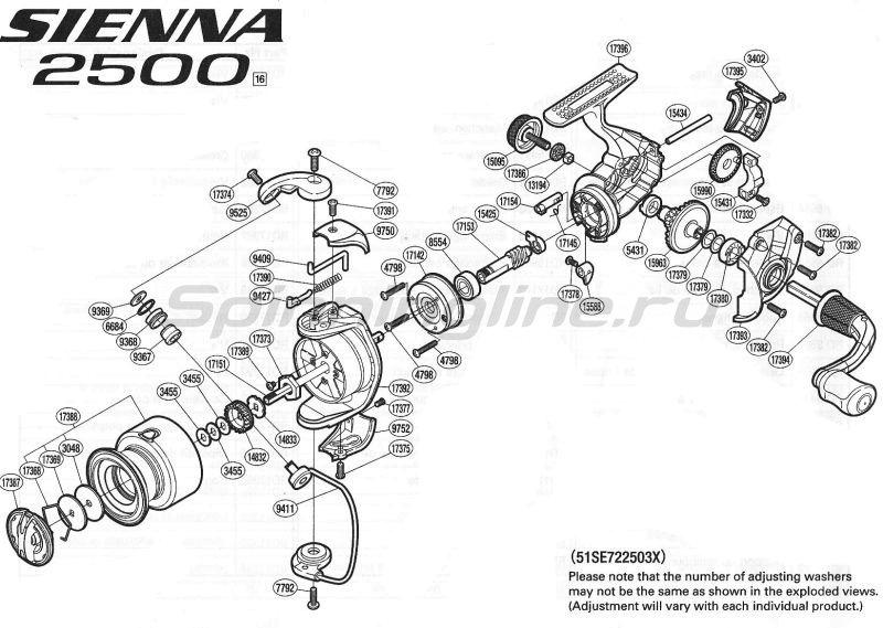 Shimano - Катушка Sienna 2500 FE - фотография 9