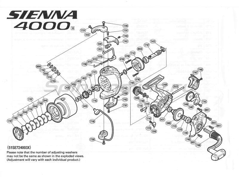 Катушка Sienna 4000 FE -  8