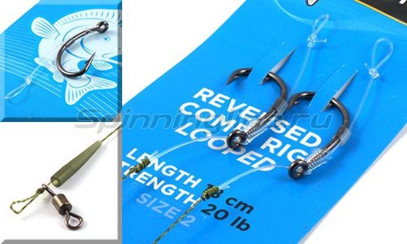 Оснастка волосяная Reversed Combi Rig №2 18см 20lb -  1