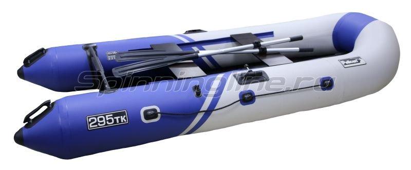 Pelican Ufa - Лодка ПВХ Пеликан 295ТК River синий/белый - фотография 1