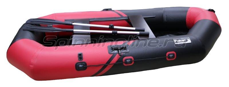 Лодка ПВХ Пеликан 268 River красный/черный -  1