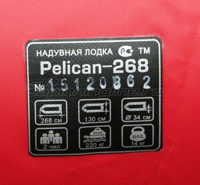 Лодка ПВХ Пеликан 268 River красный/черный -  6