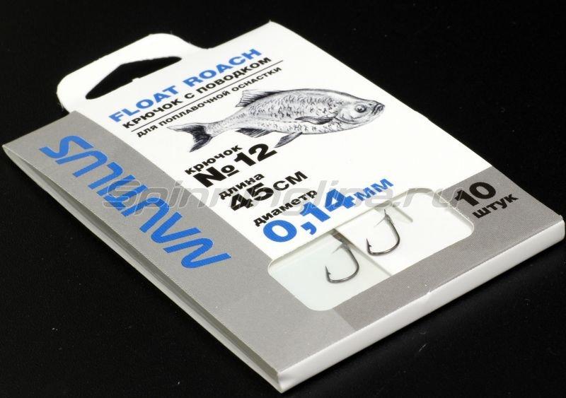 Крючок с поводком Nautilus Float Roach NSH1101-12 0.14мм 45см -  1