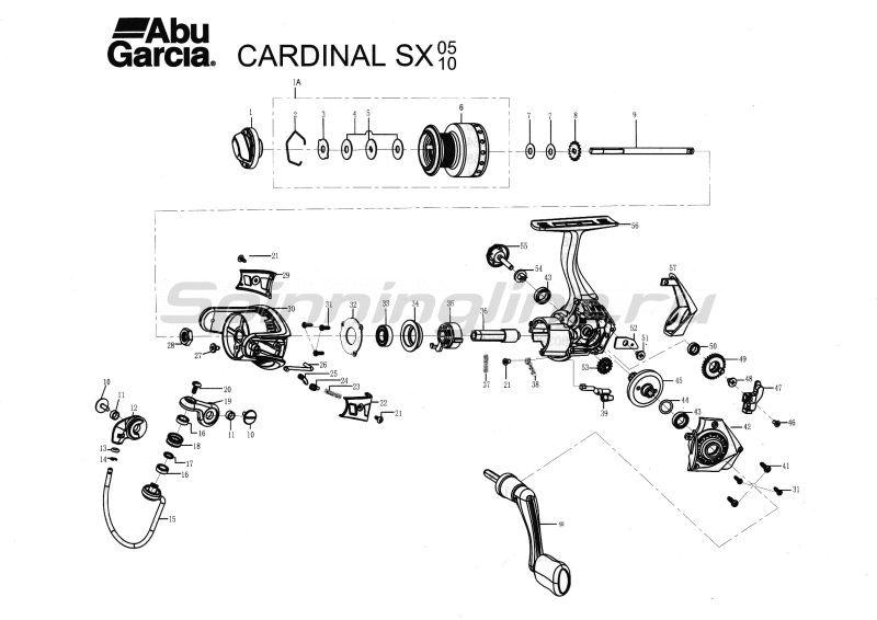 Abu Garcia - Катушка Cardinal SX 5FD - фотография 10
