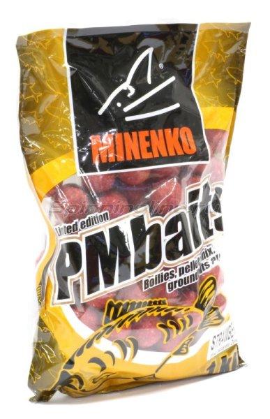 Minenko - Бойлы PMBaits Strawberry 20мм.,1кг. 3602 - фотография 1